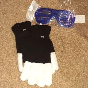 NWT Rave LED gloves with bonus